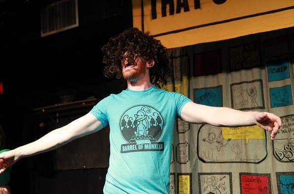 Rawson Vint as Konny in That's Weird, Grandma at the Neo-Futurists Theater in Chicago