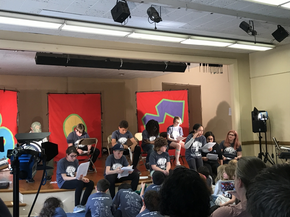 Students performing during Barrel of Monkeys' after school program at Loyola Park in Rogers Park